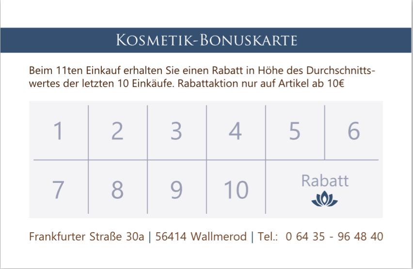 Bonuskarte Amts Apothek