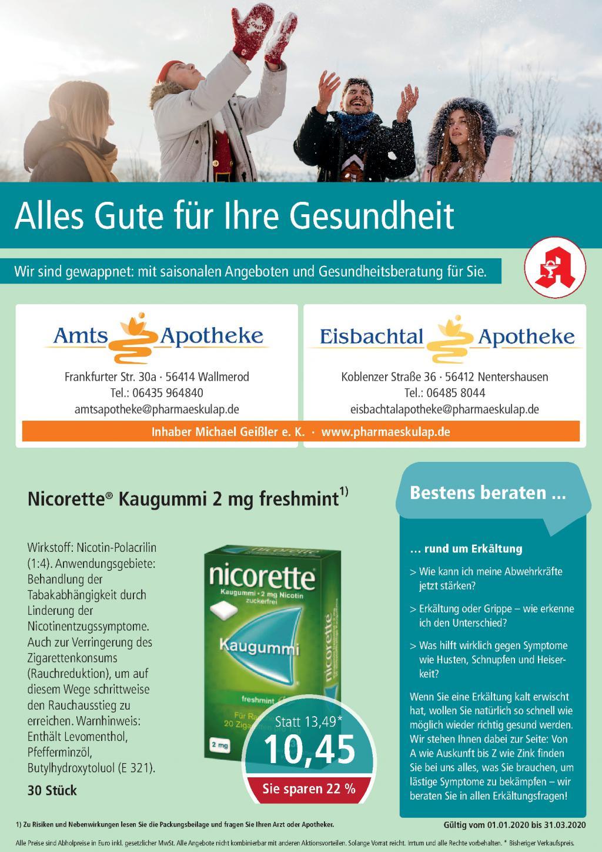 Amts Apotheke Flyer Januar bis März 2020